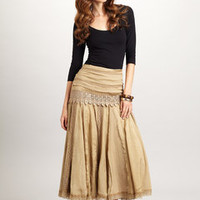 DIMRI Long Crochet Skirt - Color Tea