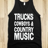 Trucks Cowboys And Country Music (Dark Tank)