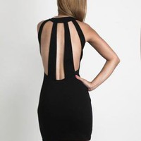 Black Little Black Dress - High Neckline Black Selina Dress | UsTrendy