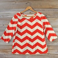 Sunset Skyline Blouse, Sweet Cozy Lace Tops