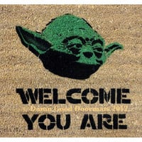 Star Wars -Yoda door mat -welcome you are mat -geek stuff fan art