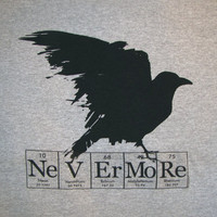 Raven Nevermore ElementeesTM  tee shirt for the nerd in you