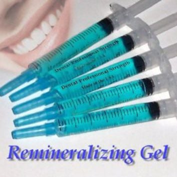 Amazon.com: Remineralization Gel - 5 Syringes of Gel. Remineralizing and Reduces Teeth Sensitivity After Teeth Whitening Treatment: Health & Personal Care
