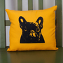 French Bulldog pillow handmade dog portrait dog art by alfieandrex