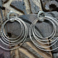 Long sterling silver hoop earrings by Ellishshop on Etsy