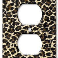 Leopard Print Switch Plate - Outlet Cover