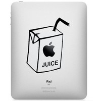 Apple Ipad Vinyl Decal Sticker - Apple Juice