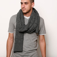 New year Grey men knitted scarf extra long by AndyVeEirn on Etsy