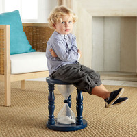 $69.00 Time Out Timer Stool? - Navy  | Stools &amp; Ottomans | Wisteria