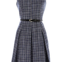 Oasis Formal | Multi Blue Summer Tweed Dress | Womens Fashion Clothing | Oasis Stores UK