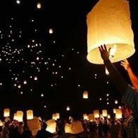 SKY LANTERNS 6 Pack - Assorted Colors