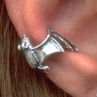 Silver Bat Ear Cuff by martymagic on Etsy