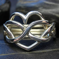 $93.88 Heart infinity puzzle ring in sterling silver  by nellyvansee