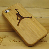 Flying Man Bamboo Case For iPhone 5