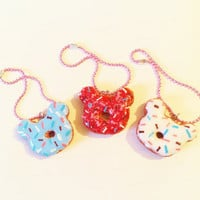 Scented Rilakkuma Kawaii Donut Polymer Clay Cell Phone Charm