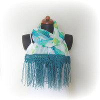 Butterfly scarf  chiffon scarf by PriscillaCashApparel on Etsy