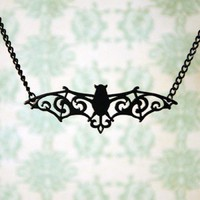 ShanaLogic.com - 100% Handmade &amp; Independent Design! Victorian Bat Necklace - Jewelry - Girls