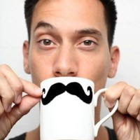 Moustache Mugs from Found Home Store Ltd | Made By Found Home Store  | 15.00 | Bouf