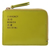 Flight 001 |  F1 Leather Currency Wallet Lime - Wallets - All Products