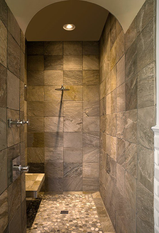 Master bathroom ideas walk in shower from for Bathroom shower ideas