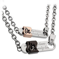 316L Steel Couple Necklace Set Valentines Gift - GULLEITRUSTMART.COM