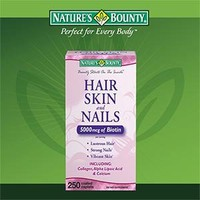 Nature's Bounty Hair Skin and Nails 5000 mcg of Biotin per Serving - 250 Coated Tablets