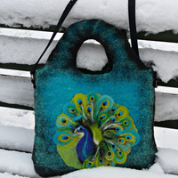 Felted handbag unique One of kind Felted handbag by MSbluesky