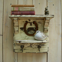 Rustic Shelf Comes With a Sweet Little Animal by honeystreasures