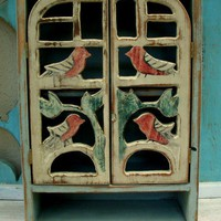 Wood Cabinet Rustic Shabby Chic French Country by honeystreasures