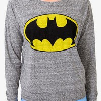 Heathered Batman Raglan Top | FOREVER 21 - 2019227121