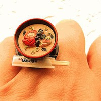 Miso Soup Miniature Food Ring