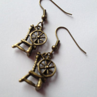 Fairytale Spinning Wheel Earrings