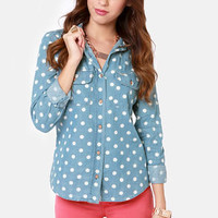 Quiksilver Third Bay Polka Dot Top