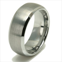 "Tungsten wedding band  "" FREE ENGRAVING "", MMDTR082 8mm Tungsten Carbide engagement ring"