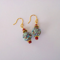 Kaleidoscope Polymer Clay Beaded Earrings
