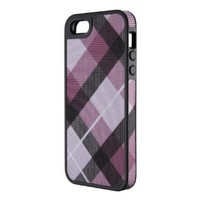Amazon.com: Speck Products FabShell Fabric-Covered Case for iPhone 5 - Retail Packaging - MegaPlaid Mulberry/Black: Cell Phones & Accessories