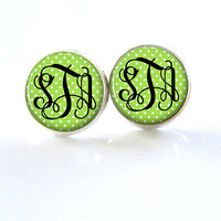 Monogram Stud Earrings (370)