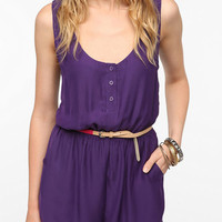 Pins and Needles Silky Open Back Romper