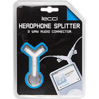 White headphone splitter