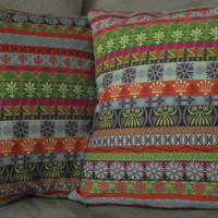 Pillow Covers Set of Two Bohemian Stripes 14 X by TheGoodOleDays
