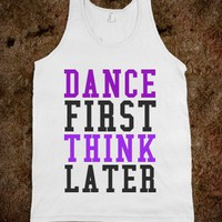 Dance Think-Unisex White Tank