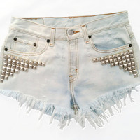 Nova Short studded cutoff shorts by Omeneye on Etsy