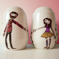 $45.00 Personalised Valentine's Salt and Pepper shakers by JoyNevada