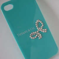 Tiffany iPhone case   Center Ribbon Tiffany iPhone by bitsbybets