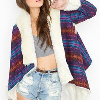 Chelsea Shearling Coat - Southwest in What's New at Nasty Gal