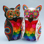 Rainbow Owl Wedding Cake Topper