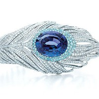 Tiffany &amp; Co. | Item | Tanzanite peacock bracelet in platinum with tourmalines and diamonds. | United States