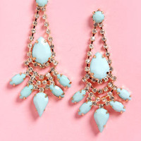 Jewels of the Trade Mint Rhinestone Earrings