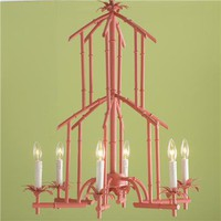 Bamboo Tower Chandelier - 6 Light (6 colors) - Shades of Light