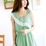Fashionable Green Newly Waves Shape Blouses Girls : Wholesaleclothing4u.com